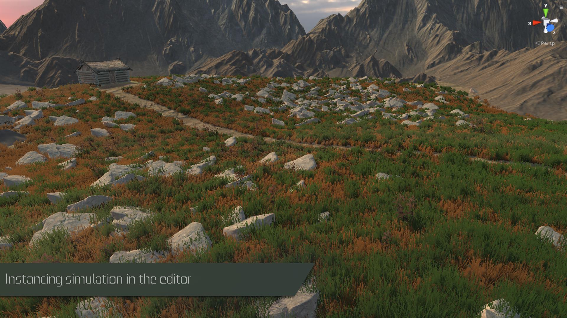 GPU Instancer Editor Simulation